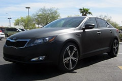 Kia Optima 2013 Black Matte Black Wrap On 2012 Kia Optima