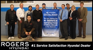 Rogers Hyundai: #1 Service Satisfaction Hyundai Dealer