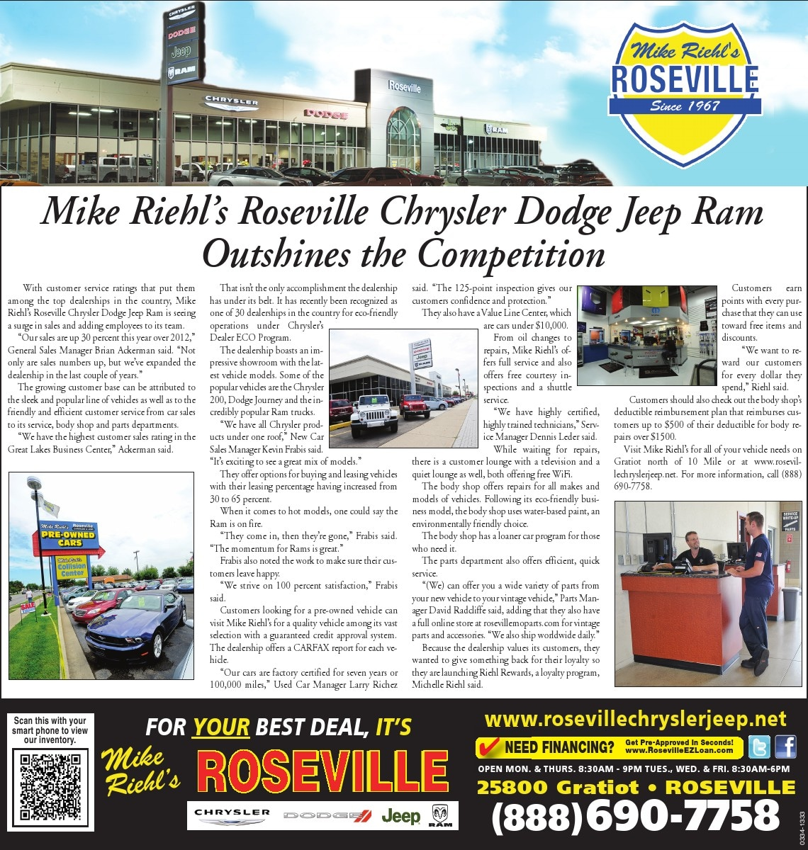 Mike riehl celebrates 10th annual mopar car show david radcliffe parts manager at mike riehl s roseville chrysler dodge jeep ram