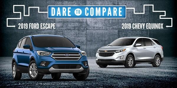 2019 Ford Escape Vs 2019 Chevrolet Equinox New Lisbon Wi