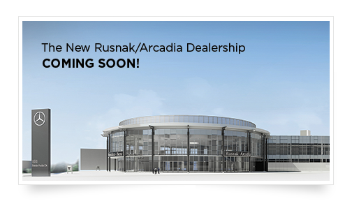 Rusnak arcadia new mercedes benz used car dealer for Mercedes benz dealers in los angeles