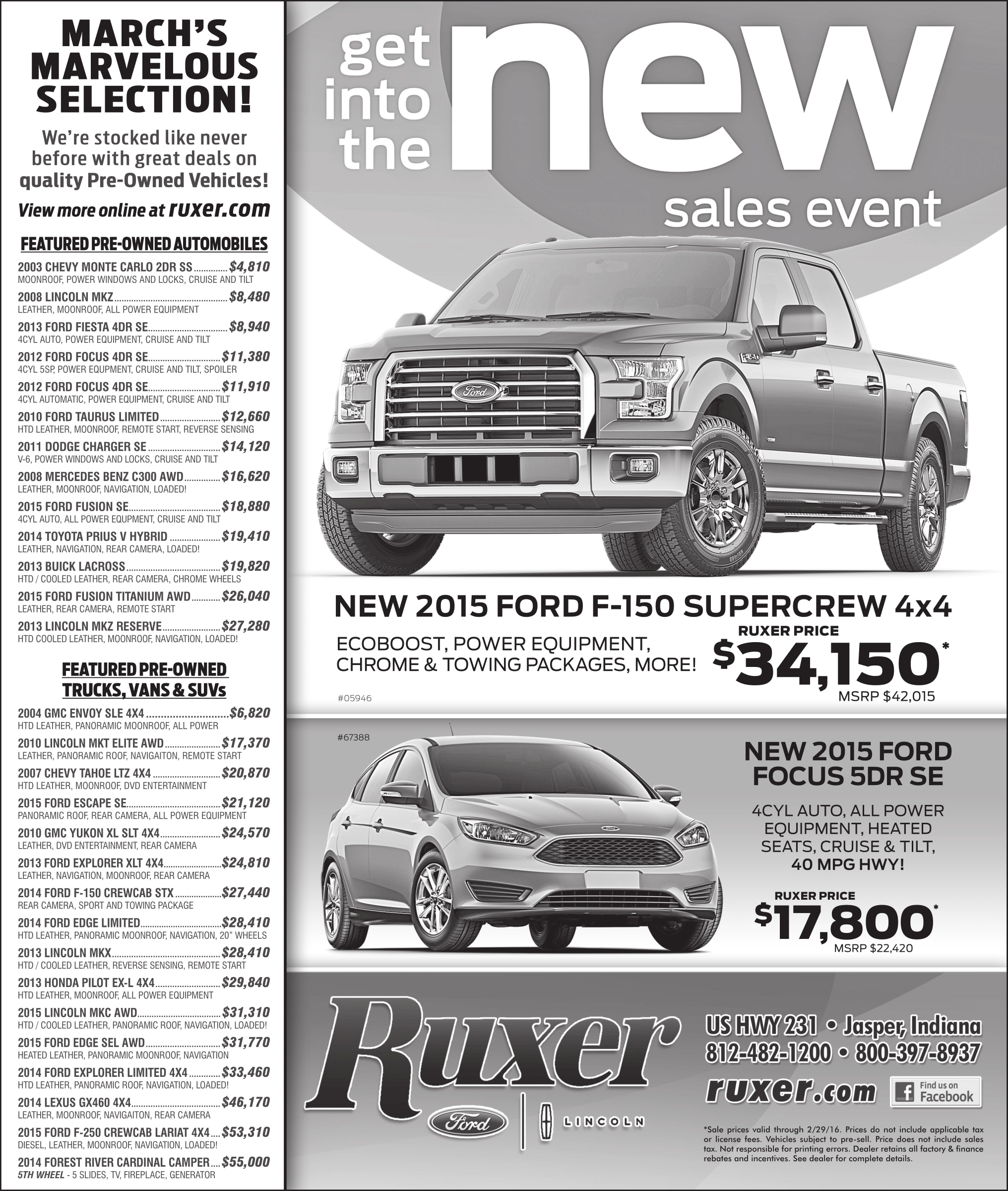 Ford Lincoln Lease Specials: New Ford Dealership In Jasper