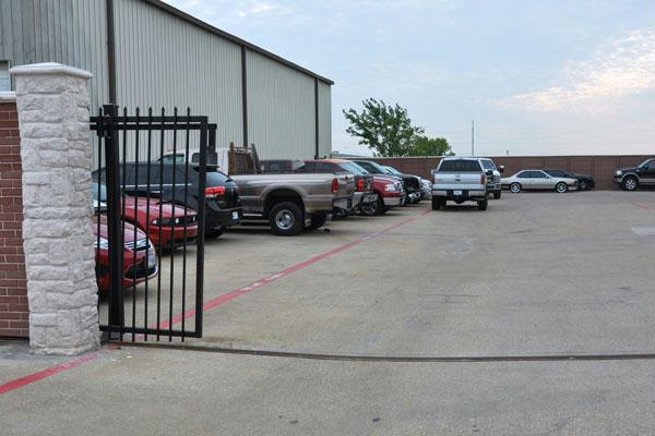 Grapevine Collision Center secure parking