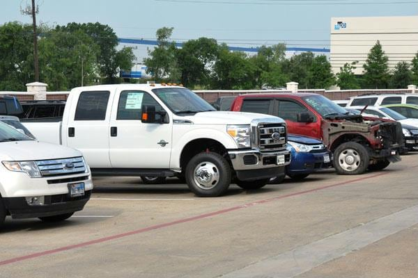 Grapevine Collision Center secure parking lot