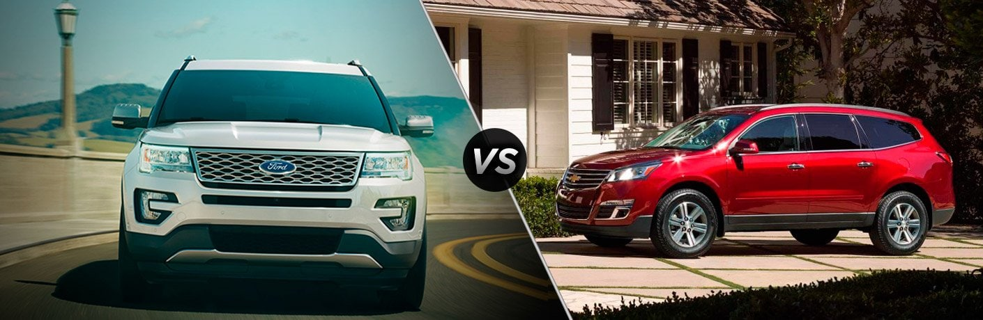 2017 Ford Explorer vs 2017 Chevy Traverse