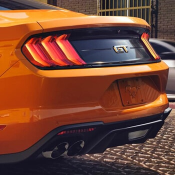 Exterior Details - You'll leave a lasting impression from the newly designed LED taillamps to the dual exhaust with quad tips. Both standard on Mustang GT.