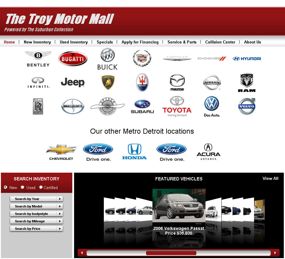 The Suburban Collection The Troy Motor Mall Opens Its