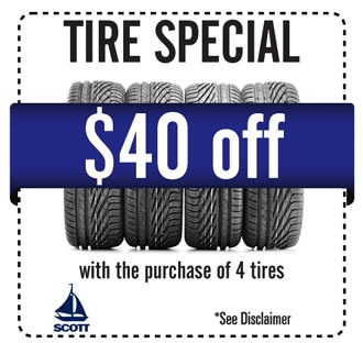 Tire Coupon for Scott Honda of West Chester