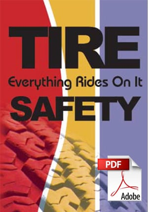 Tire Safety Brochure by NHTSA. Opens as a PDF
