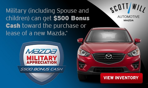 Scott Will Mazda New Mazda Dealership In Sumter SC - Mazda military