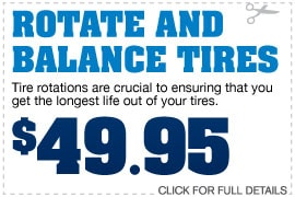 Rotate and Balance Tires Special
