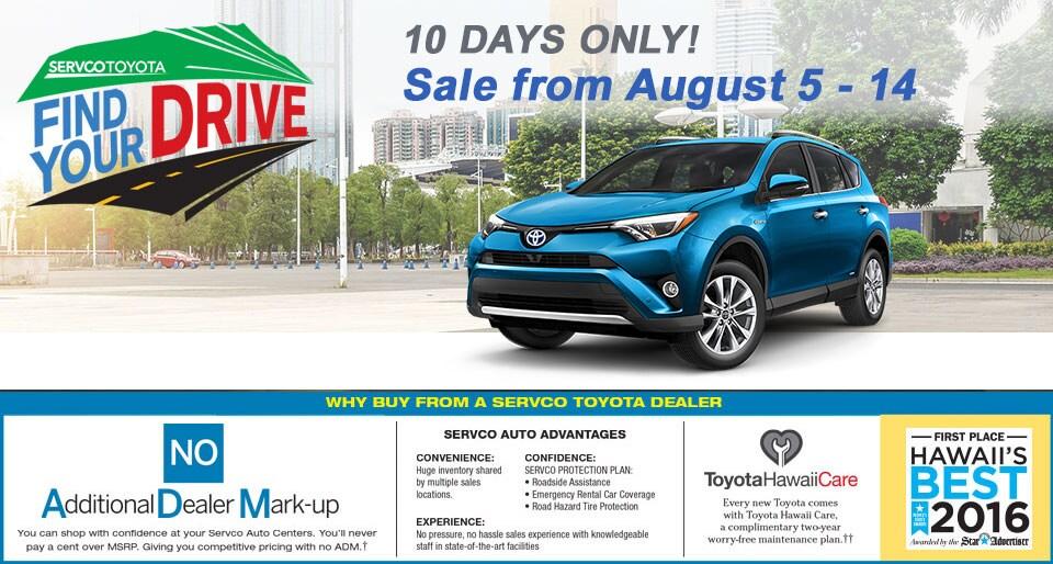 Servco Toyota Waipahu >> Find Your Drive Sales Event | Servco Toyota