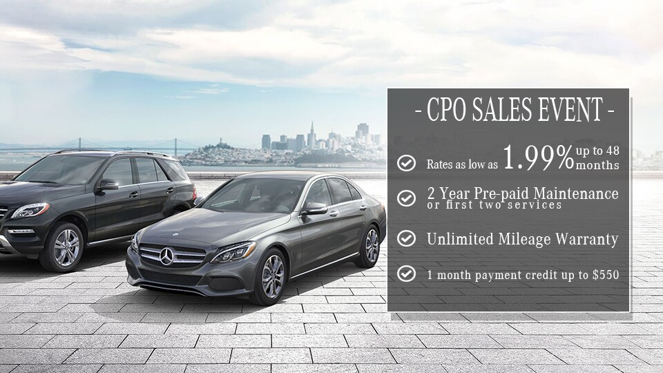 Bay area mercedes benz dealer mercedes benz of san francisco for Mercedes benz certified pre owned sales event