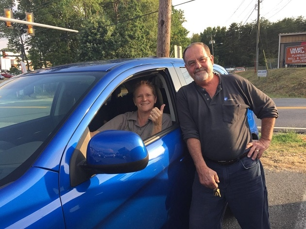 Dawn DeChristopher sold these Happy Customers, David and Cathy Chichester, their brand new 2015 Mitsubishi Outlander Sport.