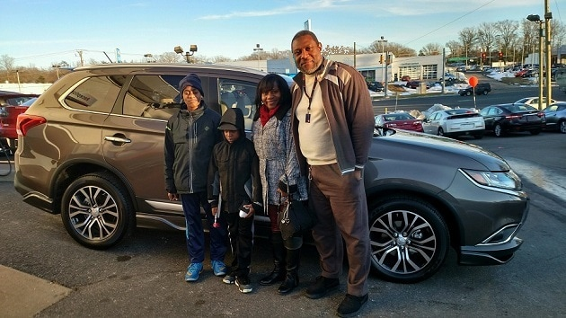Meet the Olivers and their brand new Mitsubishi Outlander. Thank you for your business; we hope you enjoy it!