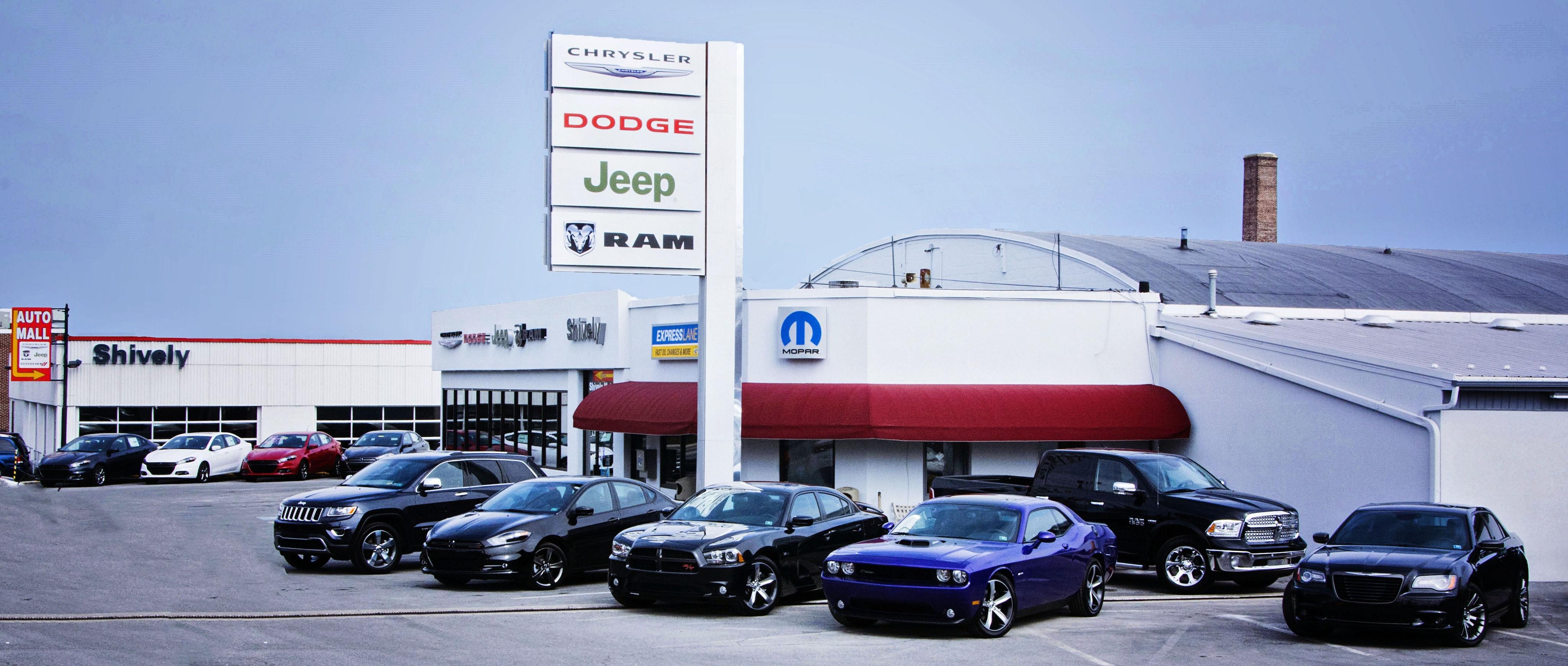 Shively motors new chrysler dealership in chambersburg for Shively motors chambersburg pennsylvania