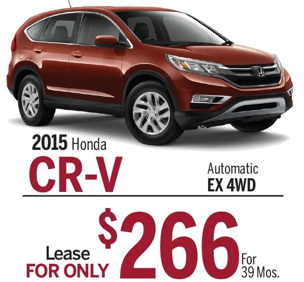 New 2015 honda cr v lease and finance options for Honda cr v lease