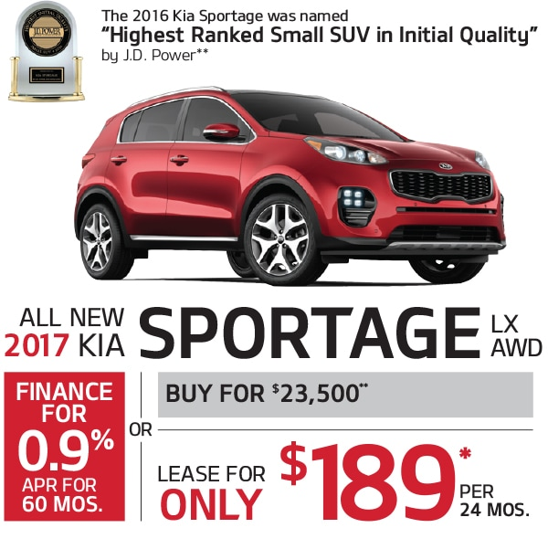 New Kia Sportage Lease Or Finance Offers At Smail Kia In