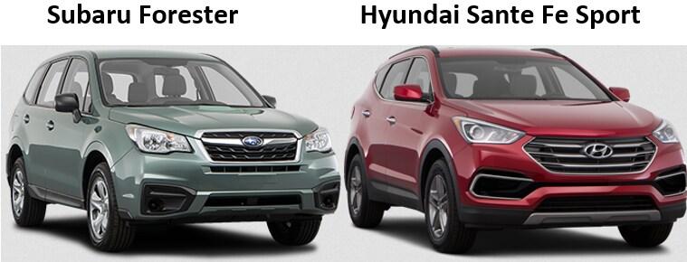 Subaru Santa Fe >> Hyundai Sante Fe Sport Vs Subaru Forester Somerset Subaru