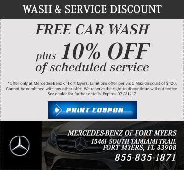 Mercedes benz auto service mercedes benz of fort myers for Mercedes benz service promotional code
