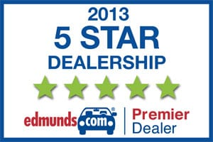 We're an Edmunds.com 5 star premier dealer!