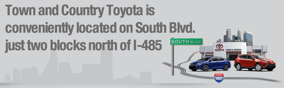 directions to town and country toyota in charlotte nc 28273. Black Bedroom Furniture Sets. Home Design Ideas
