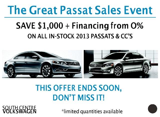 Passat 0 finance deals
