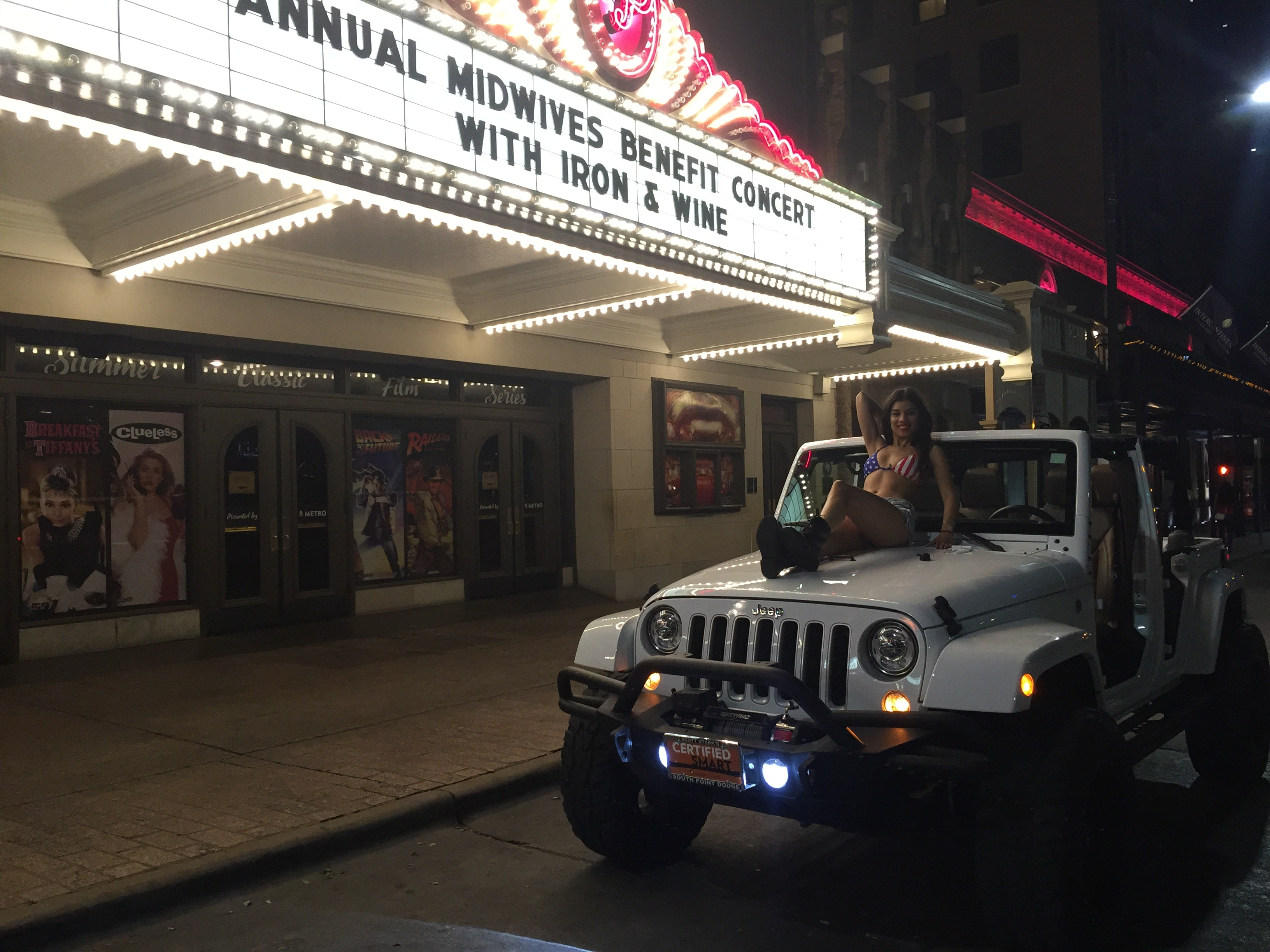 Jeep Wrangler Go Topless Photo at Paramount Theater Austin TX