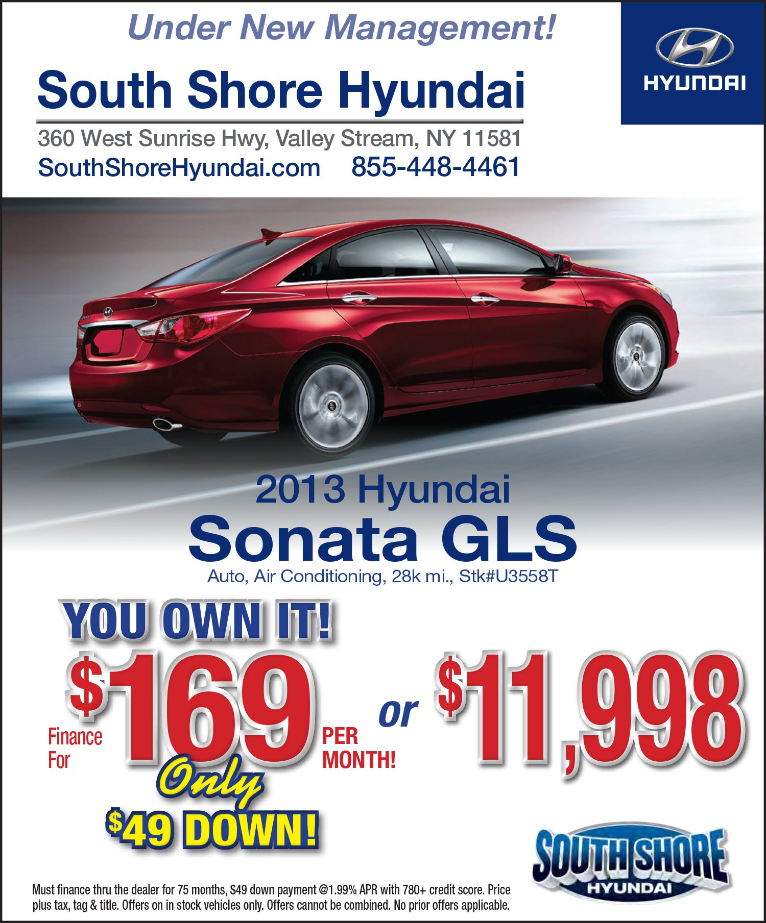 South shore hyundai new hyundai dealership in valley for Hyundai motor finance payoff phone number