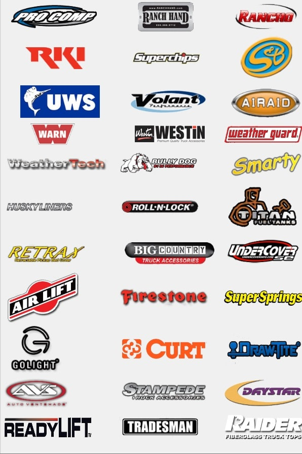 Truck accessories logos