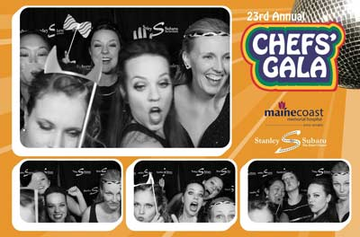 Photo booth at Maine Coast Memorial Hospital's 23rd Annual Chefs' Gala