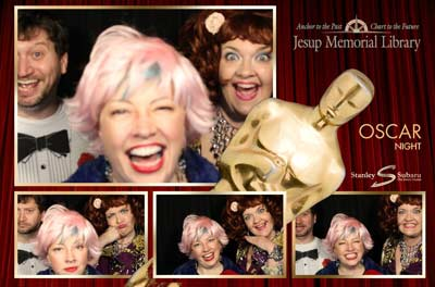 Photo booth at the Jesup Memorial Library Oscar Night fundraiser