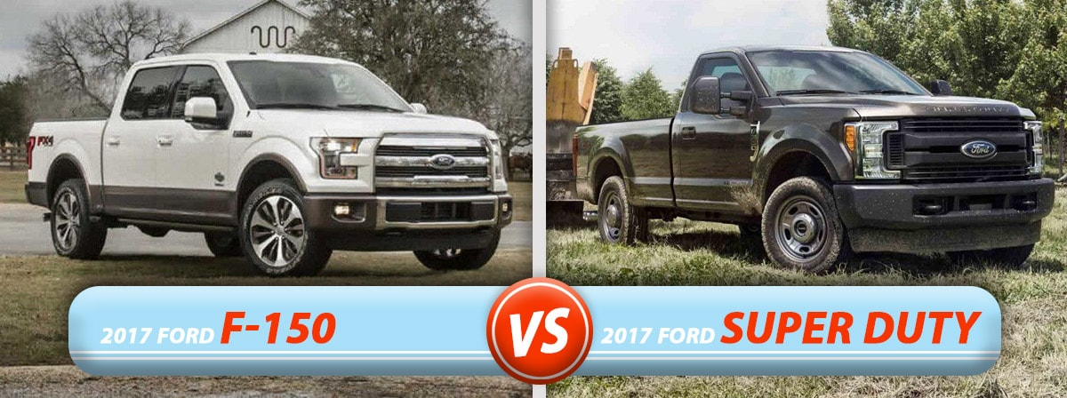 New Ford F-150 vs Super Duty