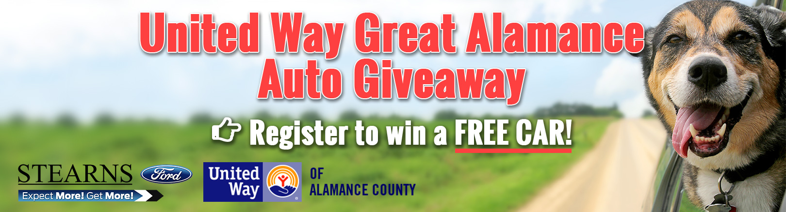 Stearns Ford gives back with the Great Alamance Auto Giveaway. & Stearns Ford Inc   New Ford dealership in Burlington NC 27215 markmcfarlin.com