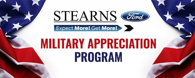 Ford Military Appreciation Program at Sterns Ford