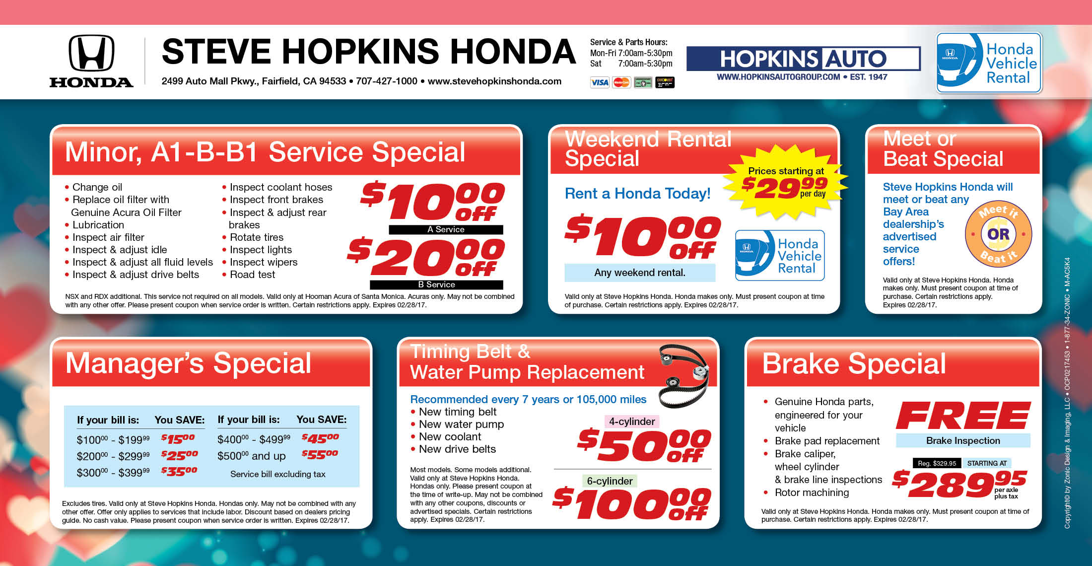 Fairfield honda service coupons steve hopkins honda for Concord honda service coupons