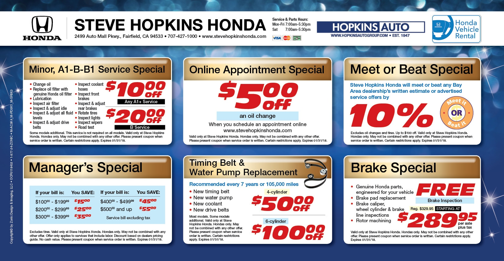 Honda Service Coupons Fairfield Service Specials Solano County