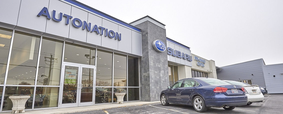 Exterior view of AutoNation Subaru Hunt Valley serving Towson