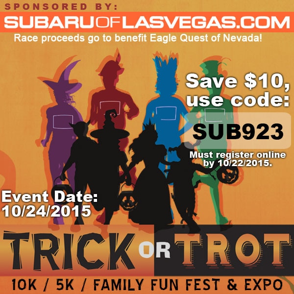 Trick or Trot 5k/10k 2015 + Discount Code