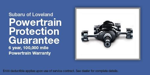 Subaru of Loveland Powertrain Protection Guarantee