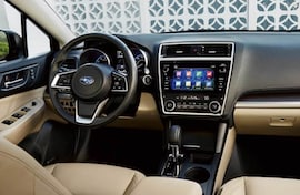 Cabin of the new Subaru Legacy