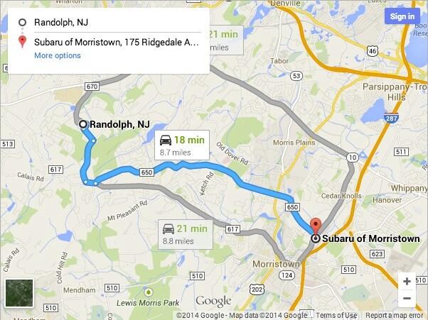 Subaru service center serving Randolph NJ