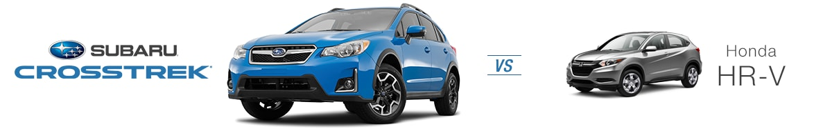 subaru crosstrek vs honda hr v compare the subaru. Black Bedroom Furniture Sets. Home Design Ideas