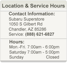 Subaru Superstore Service Department