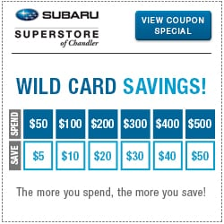 Click to View Our Subaru Wild Card Savings Service Special Serving Mesa, AZ