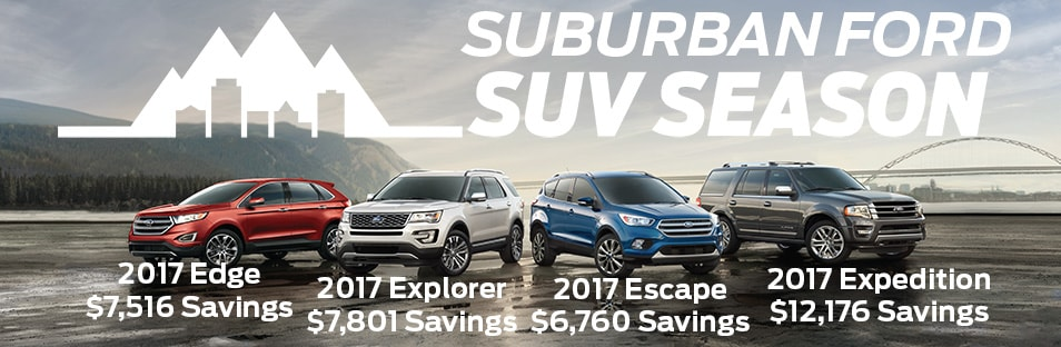 SUV Season Sale On Now At Suburban Ford!