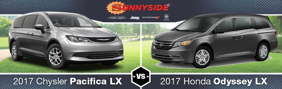 2017 Chrysler Pacifica vs. 2017 Honda Odyssey in McHenry, IL