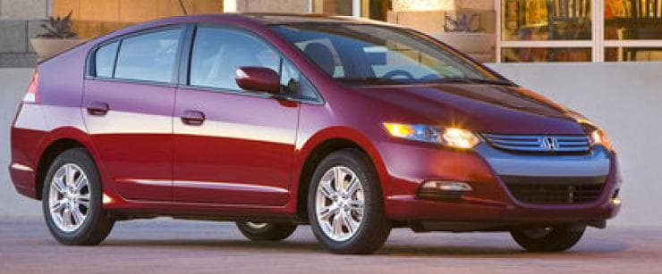 Red 2011 Honda Insight