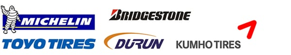 Michelin, Bridgestone, Toyo, Durun and Kumho Tires