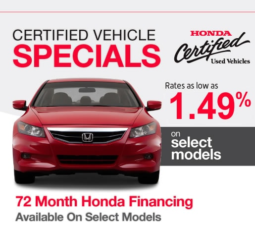 Certified Used Hondas for Sale